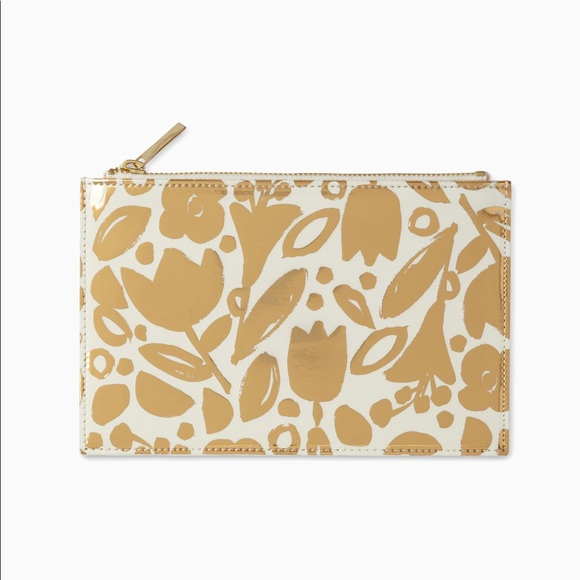 newest collection bcb06 adbc2 NEW Kate Spade Golden Floral Pencil Pouch Set NWT